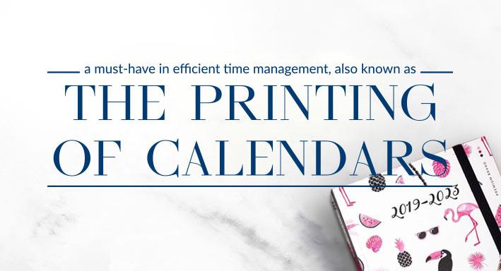 Time for calendar printing