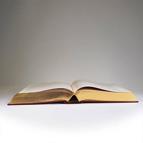 otwarta książka płasko
